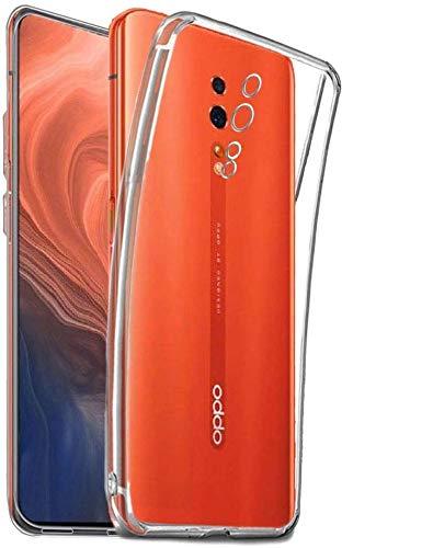 - Pack 3X Cover in Gel TPU Trasparente per Oppo Reno Z, Ultra Sottile 0,33 mm, Morbido Flessibile, Custodia Silicone