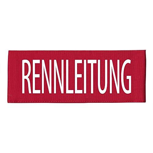 ARMBINDE Baumwolle mit Print - Rennleitung - 30738 rot