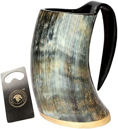 Viking Craft s Drinking Horn Mug Tankard handcrafted and natural finished product image