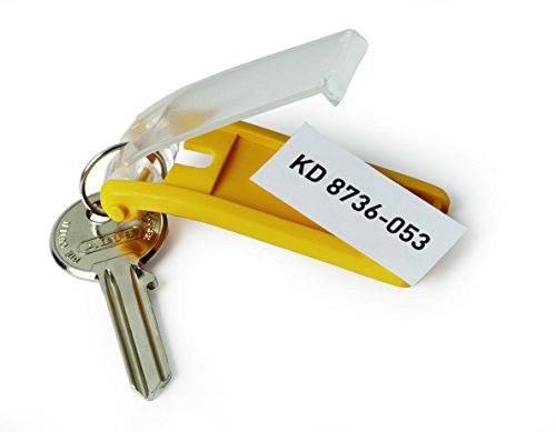 DURABLE Key Tags, Plastic, Yellow, 6-Pack (195704) Photo #6