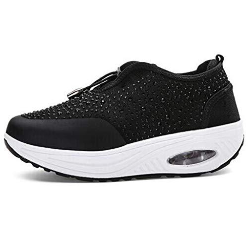 Mymyguoe Damen Turnschuhe Sneaker Freizeit Air rutschfeste Laufschuhe Atmungsaktive Damen Sneaker Laufschuhe Sportschuhe Air Turnschuhe Running Fitness Sneaker Outdoors Straßenlaufschuhe