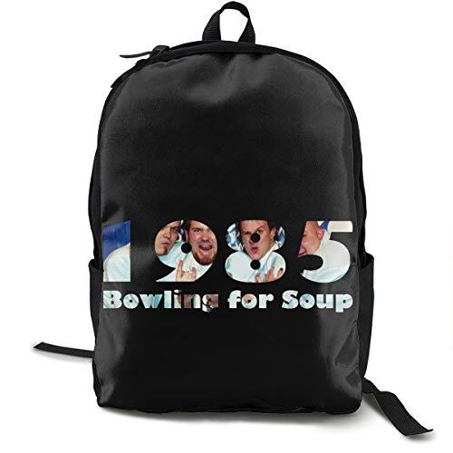 N / A Bowling for Soup Paket Klassischer Rucksack Schultasche Schwarze Tasche Arbeitsreise Zur Polyester Unisex Schule