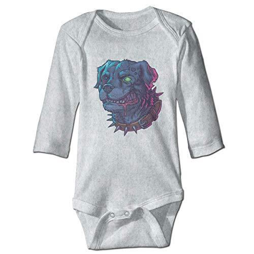 Klotr Mameluco Bebé, Evil Mad Zombie Dog Pijama de Algodón Mameluco Niñas Niños Pelele Mono Manga Larga Trajes