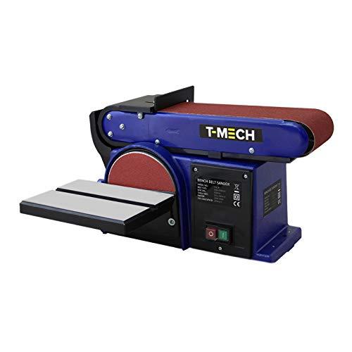 Schleifmaschine 500W Tellerschleifer Standschleifer Bandschleifer Schleifgerät Bandschleifmaschine Holzschleifmaschinen für Holz Kunststoff Metall
