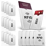 17 Stück PAMIYO TÜV Geprüfte RFID Schutzhülle Kreditkarten,100% Schutz Gegen Unerlaubtes...