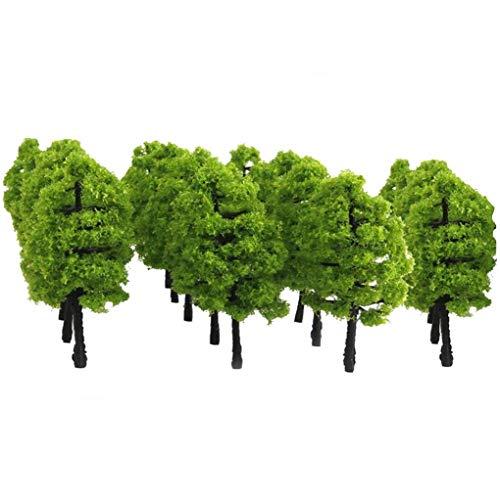 Newin Star 20pcs Modelo Verde de los árboles, 1: 100 Modelos de árbol Artificial Mini Modelo árboles en Miniatura de la Planta de luz Verde
