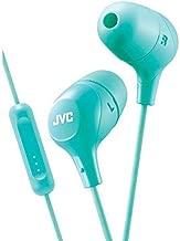 JVC Memory Foam Earbud Marshmallow Memory Foam Earbud with Mic Green (HAFX38MG)