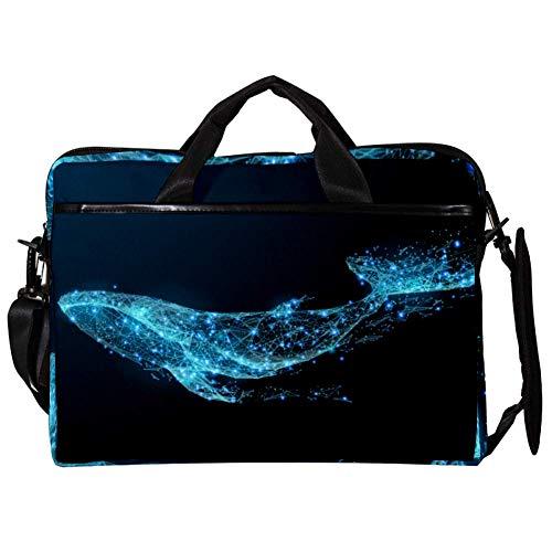 TIZORAX Laptop Messenger Shoulder Bags Starlight Whale Vector Computer Sleeve Notebook Carrying Case 15-15.4 inch Handbag