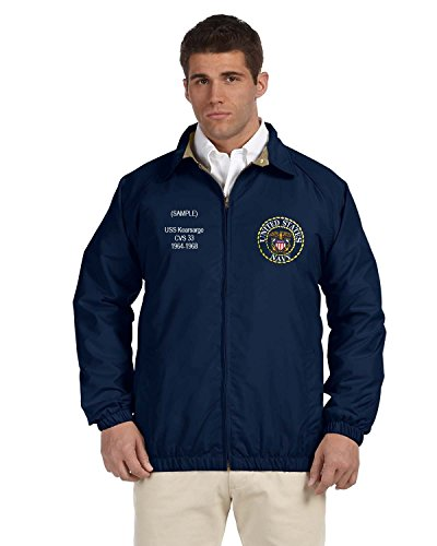 US Navy Personalized Custom Embroidered Lightweight All Season Jacket - Navy Blue