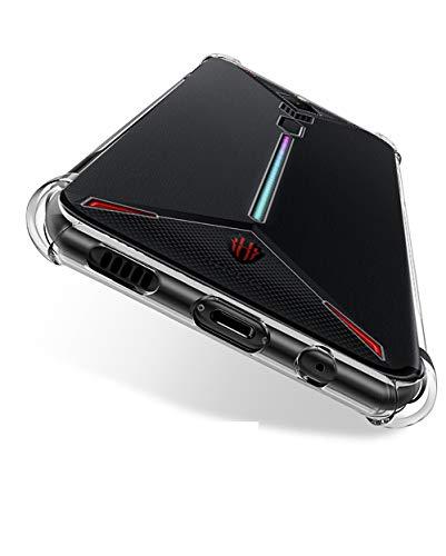 GKK CASE Schutzhülle für ZTE Nubia Red Magic 3 / Red Magic 3S (Crystal Soft Silicone Case - Verstärkter Airbag-Ecken-Schutz - stoßdämpfende transparente Hülle)