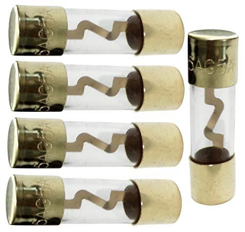 AERZETIX: 5 Stück Sicherungen AGU 5 A für Sono KFZ-Verstärker Sub Subwoofer C40688