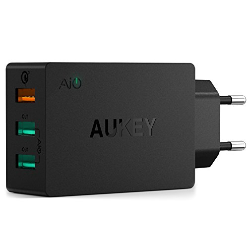Aukey 43,5W - 3 Puertos USB + Quick Charge 3.0