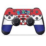 DeinDesign Skin kompatibel mit Sony Playstation 4 PS4 Controller Folie Sticker Kroatien Flagge Flaggen