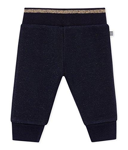 Petit Bateau SF PANTALONS MAILLE Pantalon Bébé fille Noir (Smoking/Dore 03) 2 ans (Taille fabricant: 24M 24MOIS)