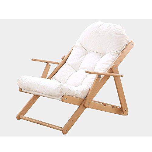 Chair Chaise longue à bascule Zhaizhen - Pour extérieur, jardin - Blanc