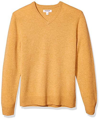 Men's Yellow V Neck Sweaters