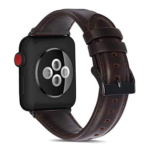 Correa de reloj de cuero genuino CHERRYY para Apple Watch Series 4 bandas 42mm 44mm pulsera para Iwatch Series 3 2 1 38mm 40mm Correa hombres mujeres