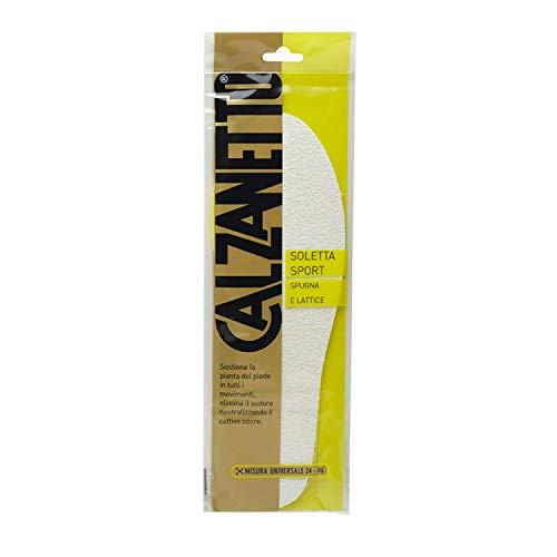 Calzanetto, Soletta Sport Spugna e Lattice, assorbe umidità, elimina il sudore e gli odori sgradevoli, misura universale dal 24 al 46