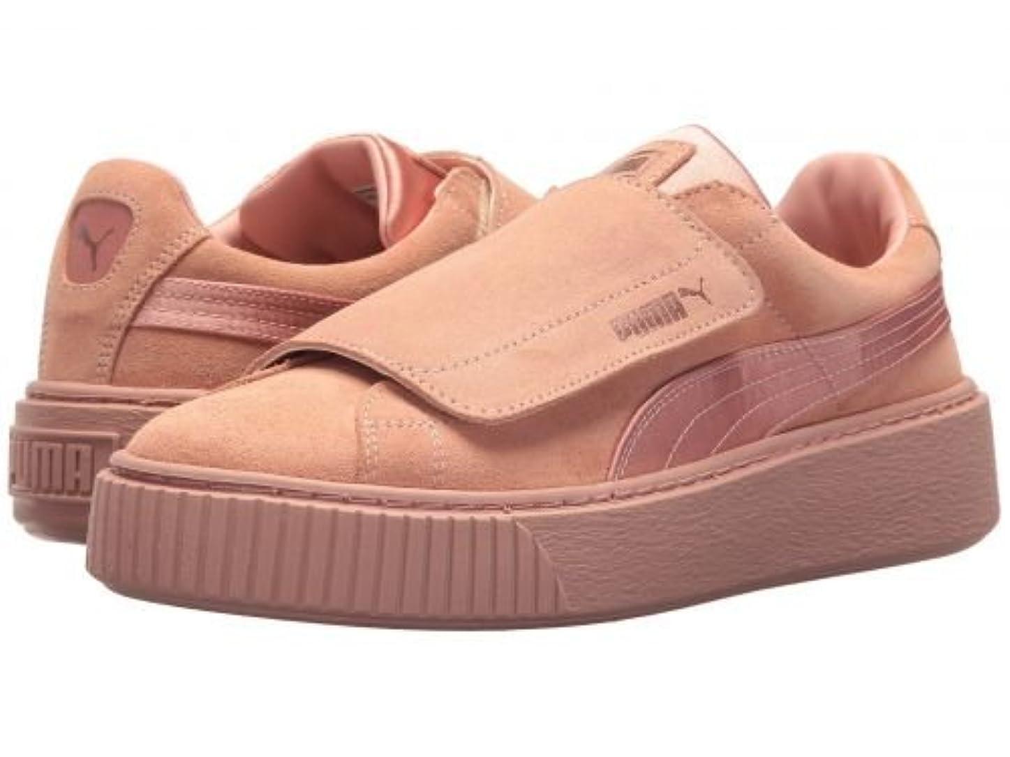 眉をひそめるフォーマル事PUMA(プーマ) レディース 女性用 シューズ 靴 スニーカー 運動靴 Platform Strap Satin EP - Peach Beige/Peach Beige/Rose Gold [並行輸入品]
