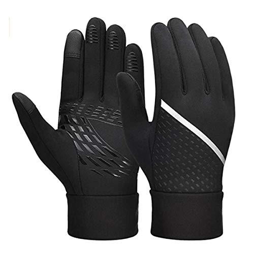 Guantes de pantalla táctil, guantes de deportes antideslizces de pantalla táctil, adecuados para conducir coches, andar en bicicleta (Size : XL)