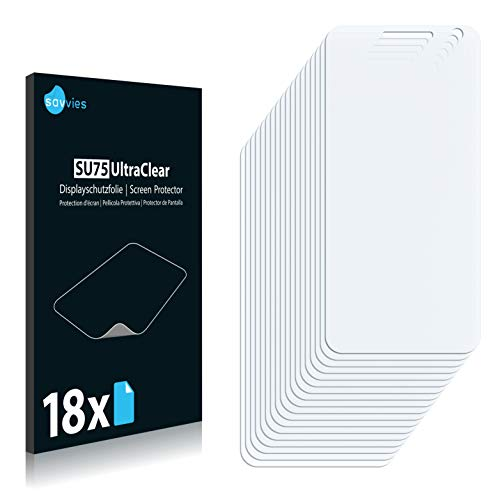 Savvies 18x Schutzfolie kompatibel mit Doogee Homtom HT3 Pro Bildschirmschutz-Folie Ultra-transparent