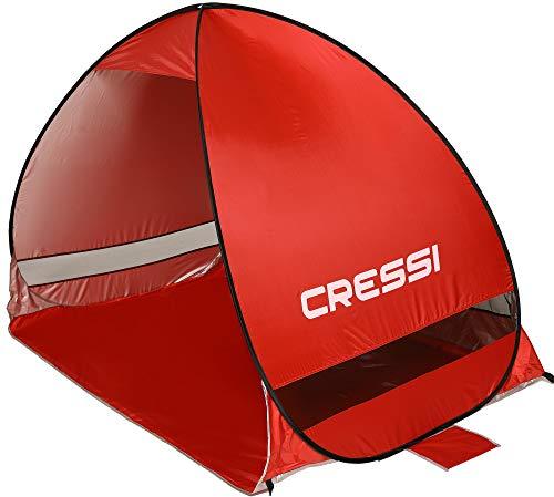 Cressi Beach Tent Tiendas de Playa, Rojo, 200x120x130 cm