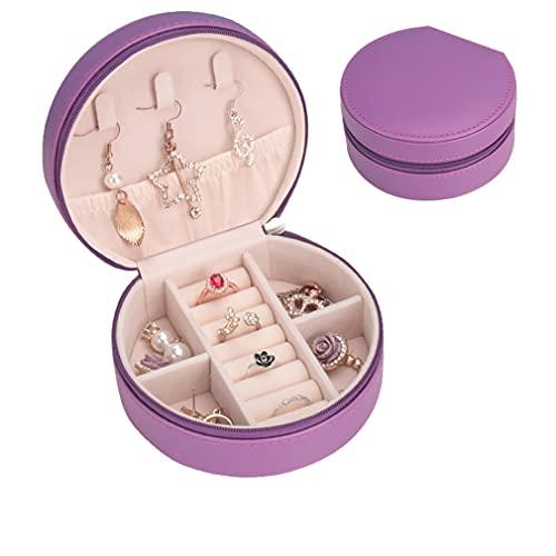 Mini cajas de joyería de cuero PU caja de almacenamiento de joyería para anillos, pendientes, collares, pulseras, reloj pendiente titular regalos para mujeres y niñas
