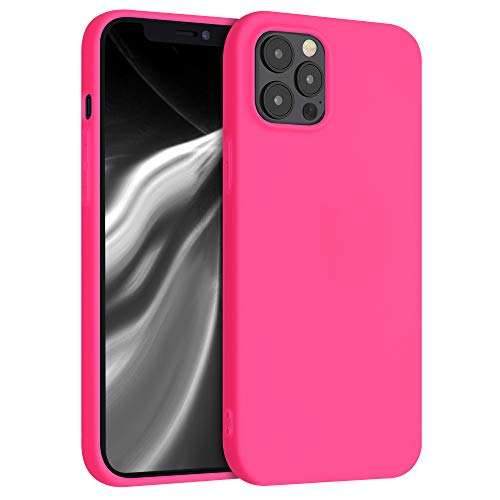 kwmobile Cover Compatibile con Apple iPhone 12 PRO Max - Custodia in Silicone TPU - Backcover Protezione Posteriore- Rosa Shocking