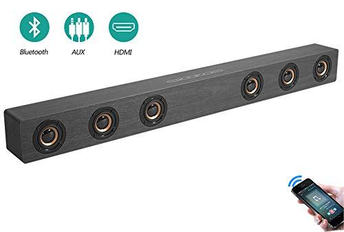 Speaker-EJOYDUTY 30W Hallo-FI Stereo HDMI Sound Bar für TV, Holz- Bluetooth Heimkino-Lautsprecher für PC/Laptop/Handy/Tablets,C