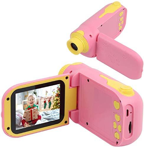 Cámara para niños, Mini Digital con Lector de Tarjetas y Tarjetas TF de 8GB, cámara a Prueba de Golpes, Regalos de Juguete para niños y niñas, cumpleaños (Rosado)