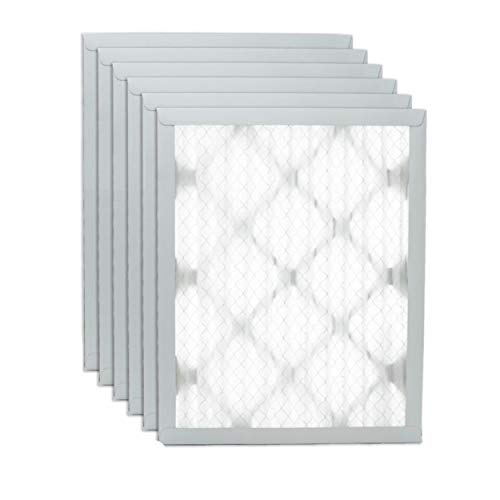 """Filters Fast 10x10x1 Pleated Air Filter (6 Pack), Merv 13   1"""" AC Furnace Air Filters, Made in the USA   Actual Size: 9.75""""x9.75""""x0.75"""