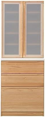 食器棚 完成品 幅66cm 高さ175cm 木製 メープル 北欧風 ナチュラル 堀田木工所