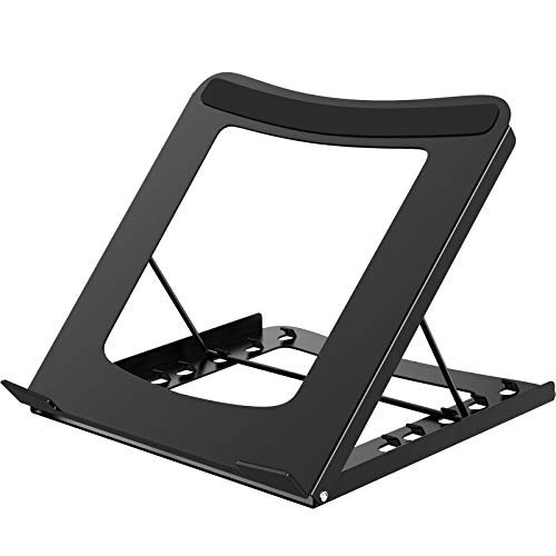 BONTEC Multi-function Adjustable Ergonomic Laptop Stand Foldable Portable Desktop Computer Holder Cooling Cooler Ventilated Notebook Riser for iM(ac)/Laptop/Notebook Computer/Tablet