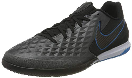 Nike React Legend 8 PRO IC, Scarpe da Calcetto Indoor Unisex-Adulto, Black Black Blue Hero, 46 EU