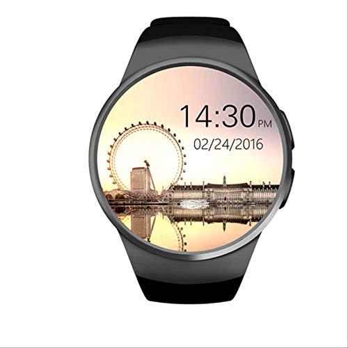 Smartwatch Man Kw18 Bluetooth (podómetro de frecuencia cardíaca Sim Smartwatch Responder a la Llamada TF Reloj de teléfono) para Android iOS Health Monitoring. Negro 32TF.