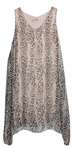 BZNA Zipfel zomerjurk tuniek roze slangenpatroon reptielpatroon zijden jurk bozana zomer herfst zijden jurk dames jurk jurk elegant