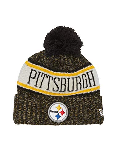 New Era ONF18 Sport Knit Bommelmütze Pittsburgh Steelers Schwarz, Size:ONE Size