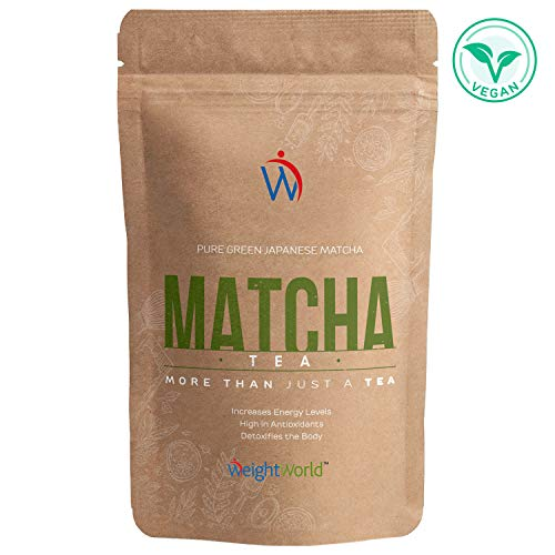 Matcha Green Tea   Té Matcha Vegano   Polvo de Té Natural   Dieta Detox Para Adelgazar   Con Vitamina A, K y E   Para la bebida o la comida   Sin gluten y sin Lactosa   WeightWorld