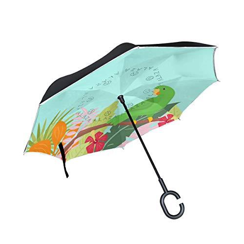 Hengpai Rick Morty Reverse - Paraguas invertido para interior y exterior, resistente al viento, a prueba de rayos UV, doble capa, para mujer, Talla única, multi (Multi8)