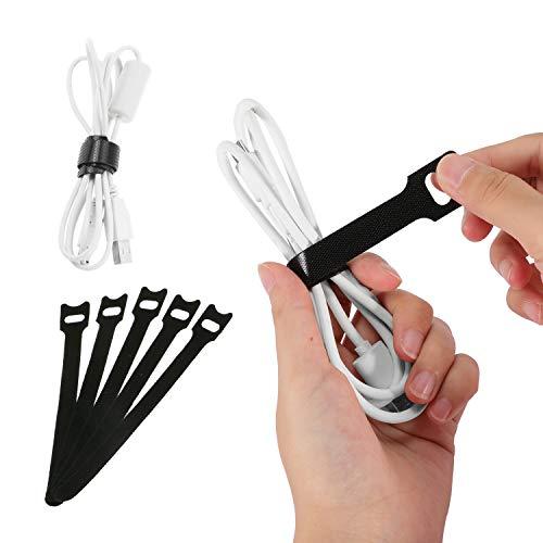 Buluri Kabel Organizer Tasche Tragbare Reiseelektronik Zubehör Aufbewahrung für Ladekabel, USB Kabel, Kopfhörer Kabel, Festplatten, Schwarz