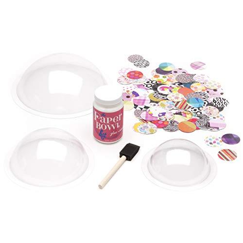 Craft-tastic – Paper Bowl Kit – Craft Kit Makes 3 Different-Sized Decorative Bowls