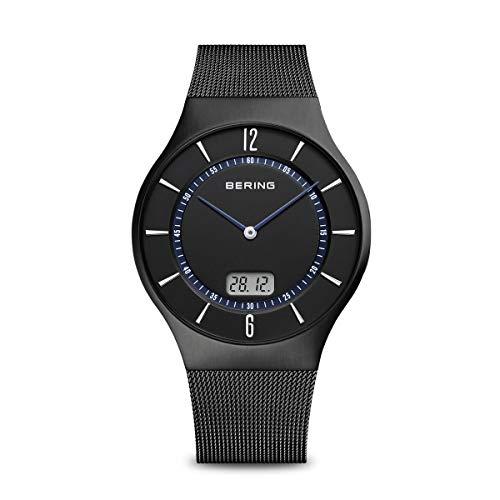 BERING Herren Analog Funk Collection Armbanduhr mit Edelstahl Armband und Saphirglas 51640-228