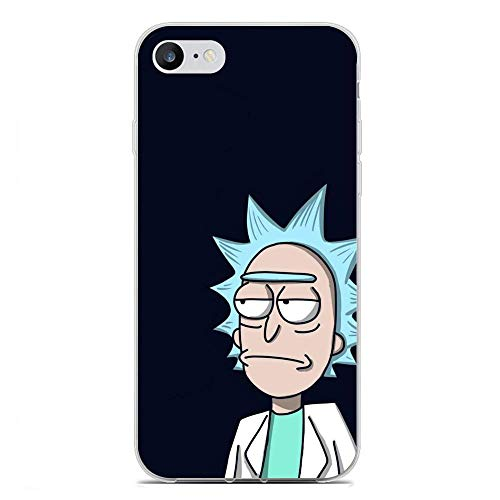 Mosku Ultra Thin Clear Soft Rubber Anti-Shock Protective Phone Case Cover for Apple iPhone 6/6s Plus-Rick-Morty 7