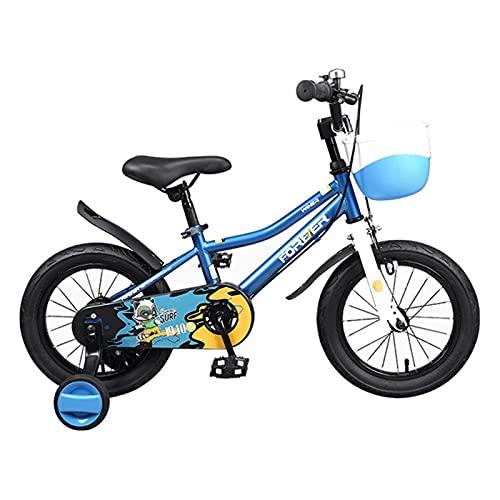 Axdwfd Infantiles Bicicletas Bicicletas para niños 12/14/16/18 Pulgadas Chicos y niñas Ciclismo, Rojo, Azul (Color : Blue, Size : 12in)