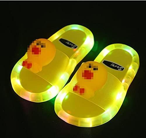 Kirin-1 Zapatillas De Novia,Jelly Luminous Sandals para niños PVC LED Antideslizante LED...