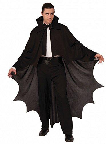 shoperama Fledermaus Vampir Umhang für Damen und Herren Schwarz Halloween Cape Kostüm-Zubehör