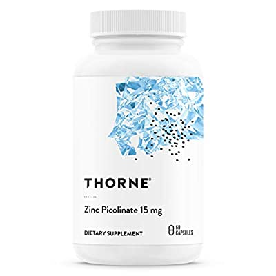 Thorne Research - Zinc Picolinate 15 mg - Highly Absorbable Zinc Supplement to Support Growth and Reproductive Health - 60 Capsules
