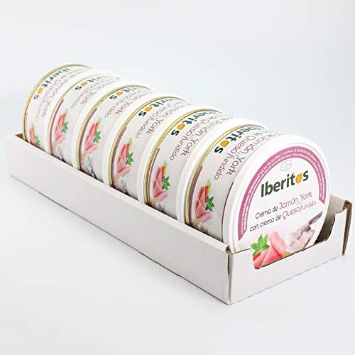 Iberitos - Crema De Jamon York Con Queso - 6 Latas X 250 Gramos
