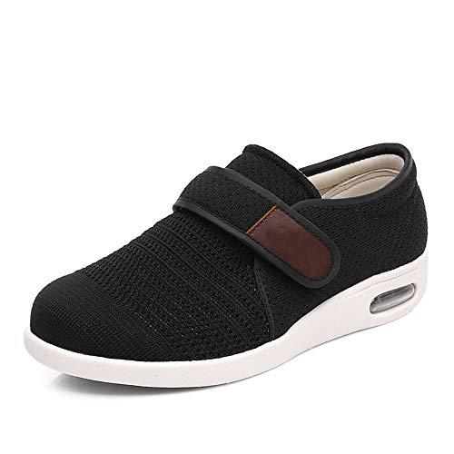Mei MACLEOD Casual Women Walking Shoes Wide Wide Air Cushion Arthritis Edema Diabetic Swollen feet Shoe Sneakers