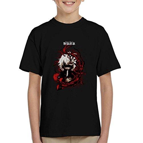 Tokyo Ghoul Blood Splatter Kid's - Camiseta Negro 7-8 Años